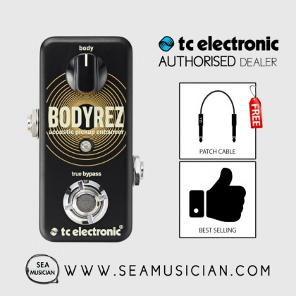 TC ELECTRONIC BODYREZ ACOUSTIC PICKUP ENHANCER PEDAL FREE 2 PATCH CABLE (T33-960819061)
