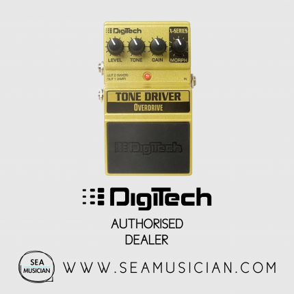 DIGITECH TONE DRIVER OVERDRIVE PEDAL 3 OVERDRIVE PEDALS BUILT INTO ONE STOMP BOX EDGY MID BOOST OVERDRIVE, TO A SMOOTH WARM OVERDRIVE,  TO CLASSIC OVERDRIVE SPECTRAL-CONTOURING EQ CABINET MODELING ALLOW PLUG DIRECT INTO A MIXER (DIGXTDV)
