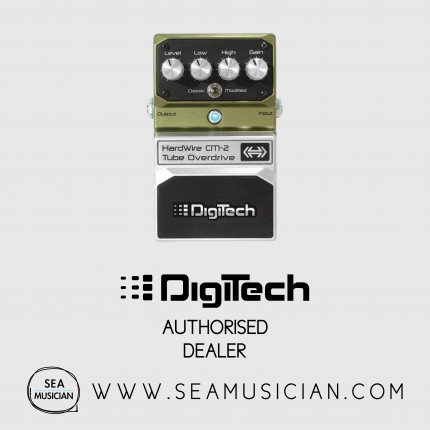 DIGITECH CM-2 HARDWIRE TUBE-OVERDRIVE PEDAL TRUE BYPASS CLASSIC MODE TRANSPARENT, RESPONSIVE OVERDRIVE MODIFIED MODE MORE GAIN MORE LOW END (HWCM2)