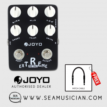 JOYO JF-17 EXTREME METAL EFFECT GUITAR PEDAL WITH FREE PATCH CABLE