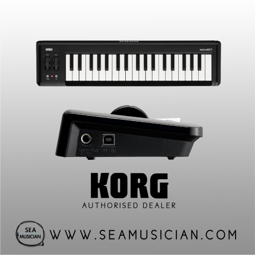 KORG MICROKEY2 AIR 37-KEYS USB POWERED COMPACT MIDI KEYBOARD (KORG-MICROKEY2-37AIR)