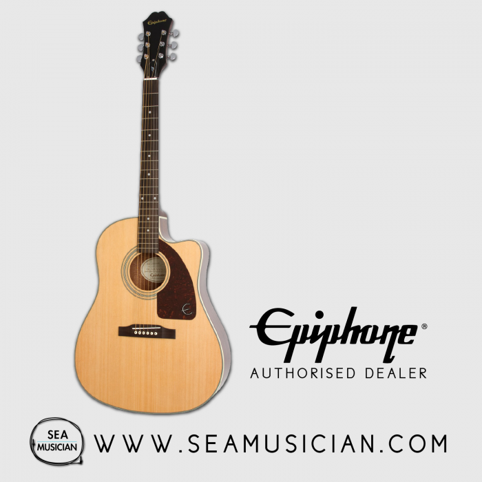 d7f02fb3135 EPIPHONE AJ-210CE NATURAL COLOR OUTFIT ACOUSTIC GUITAR WITH HARDCASE ...