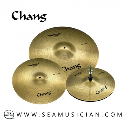 "CHANG CYMBAL ARMOR-Y SET 14"" HIHAT 16""CRASH 20""RIDE (GOLDEN) CHGAR-Y"
