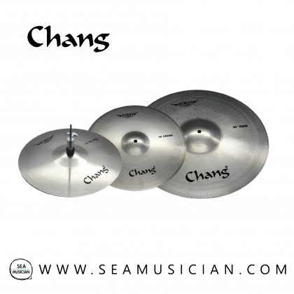 "CHANG CYMBAL ARMOR-K SET 14"" HIHAT 16""CRASH 20""RIDE (SILVER) CHGAR-K"