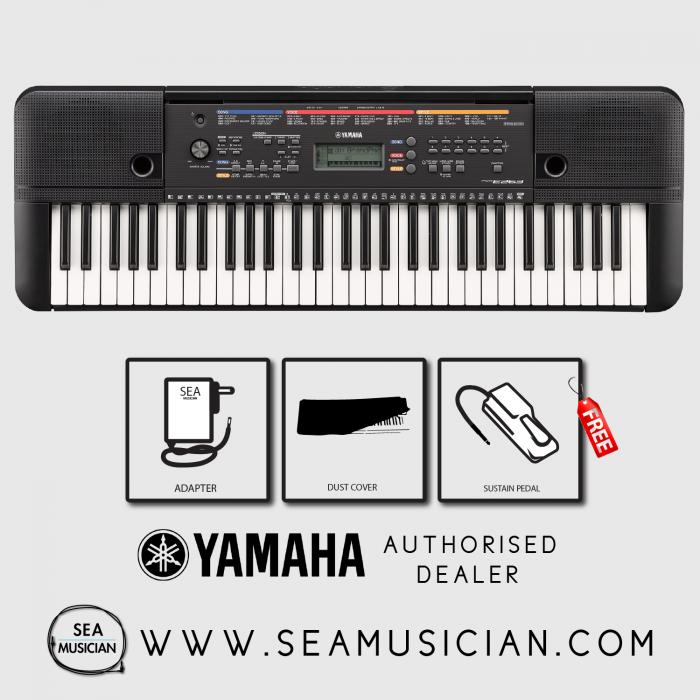 Yamaha Psre263 61 Keys Portable Keyboard With Free Sustain
