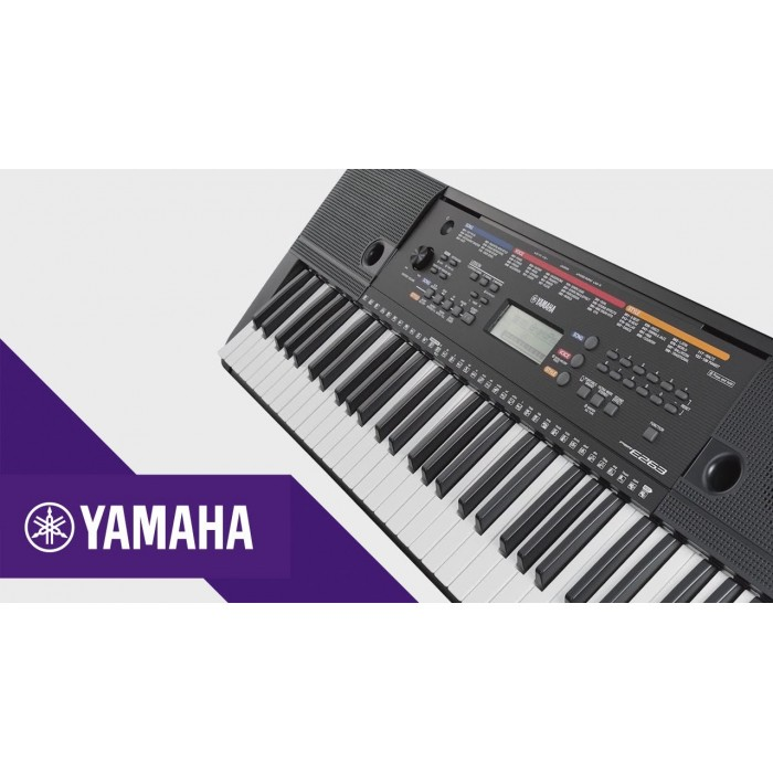 yamaha psre263 61 keys portable keyboard with free sustain pedal dust cover. Black Bedroom Furniture Sets. Home Design Ideas