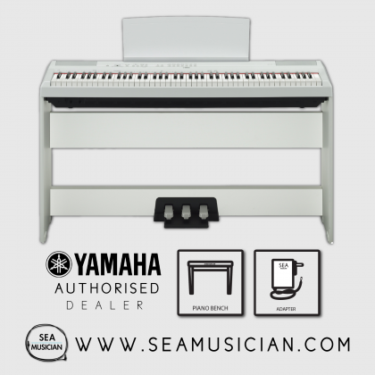 YAMAHA P-SERIES P-115 88-KEYS DIGITAL PIANO FREE BENCH & HEADPHONE- WHITE