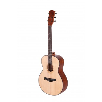 AMARI AM-MINI SEMI ACOUSTIC GUITAR - FREE BAG, CAPO, STRAP