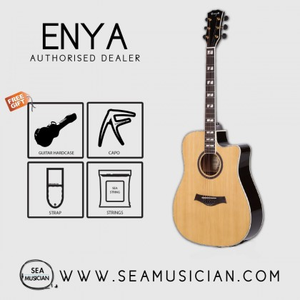 ENYA ED18NACE ACOUSTIC GUITAR WITH EQ & TUNER - FREE BAG, CAPO, STRAP & STRINGS