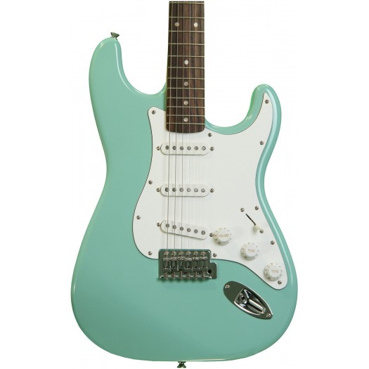 SQUIER AFFINITY SERIES STRATOCASTER ELECTRIC GUITAR - SURF GREEN