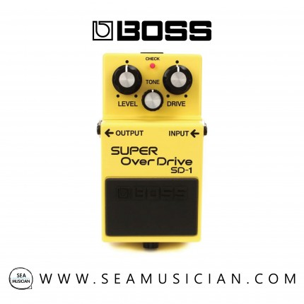 BOSS SD-1 SUPER OVERDRIVE EFFECT GUITAR PEDAL WITH FREE PATCH CABLE