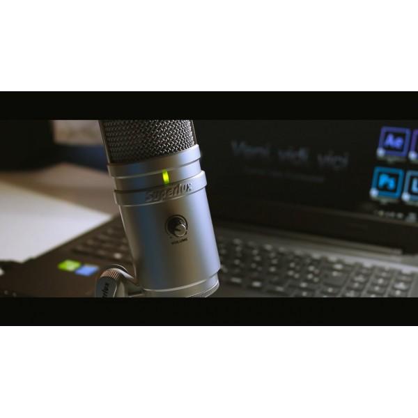 SUPERLUX E205 STUDIO CONDENSER MICROPHONE - BLACK