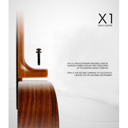 ENYA EMX1 36INCH KOA HPL ACOUSTIC GUITAR WITH PACKAGE