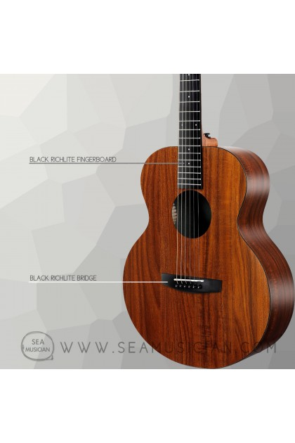 ENYA EMX1 36INCH KOA HPL ACOUSTIC GUITAR WITH PACKAGE