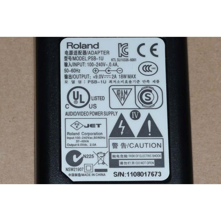 ROLAND PSB-1U 9V AC POWER ADAPTER (ROL-PSB1U)