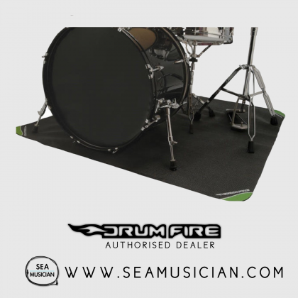 DRUM FIRE BY ON-STAGE DMA6450 NON SLIP DRUM MAT WITH BAG - 6x4 FEET
