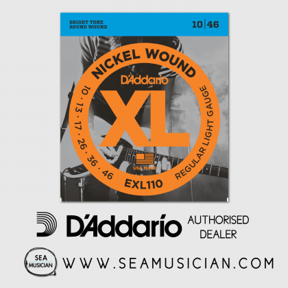 D'ADDARIO EXL110 REGULAR LIGHT ELECTRIC GUITAR STRING 10-46
