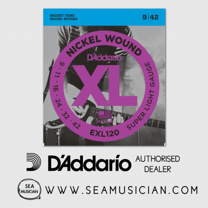 D'ADDARIO EXL120 SUPER LIGHT ELECTRIC GUITAR STRING 9-42