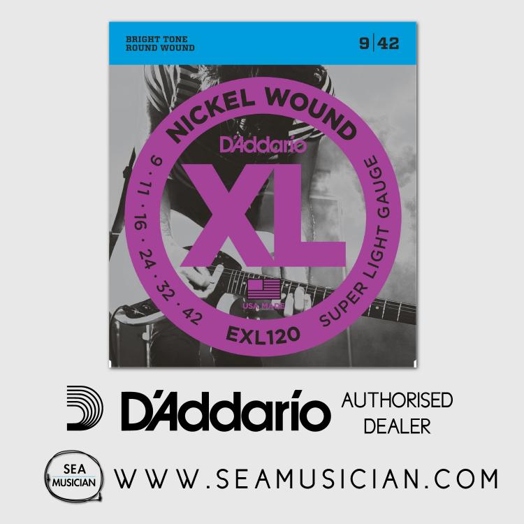 D'ADDARIO EXL120 SUPER LIGHT ELECTRIC GUITAR STRING 9-42