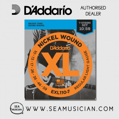 D'ADDARIO EXL110-7 7-STRING REGULAR LIGHT ELECTRIC GUITAR STRING 10-59