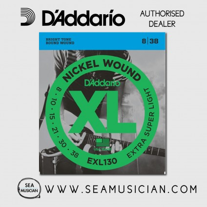 D'ADDARIO EXL130 EXTRA-SUPER LIGHT ELECTRIC GUITAR STRING 8-38