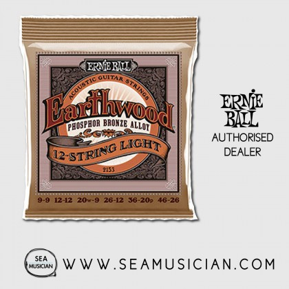 ERNIE BALL 2153 12-STRING LIGHT PHOSPHOR BRONZE ACOUSTIC GUITAR STRING
