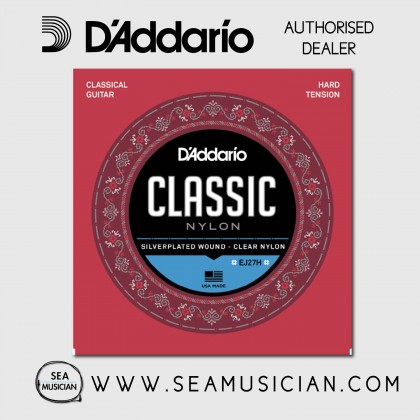 D'ADDARIO EJ27H STUDENT NYLON CLASSICAL GUITAR STRINGS HARD TENSION