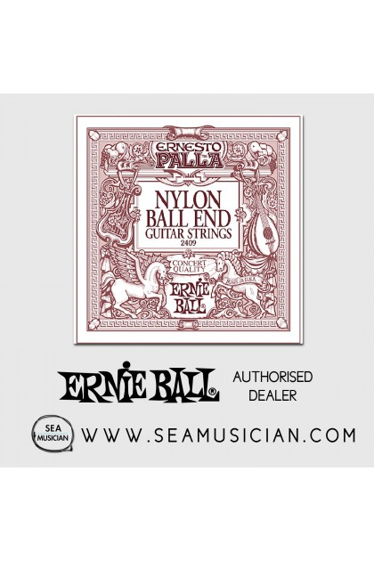 ERNIE BALL EB2409 ERNESTO PALLA BLACK NYLON GOLD BALL END CLASSICAL GUITAR STRINGS