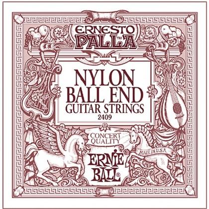 ERNIE BALL EB2409 ERNESTO PALLA BLACK NYLON GOLD BALL END CLASSICAL GUITAR STRINGS