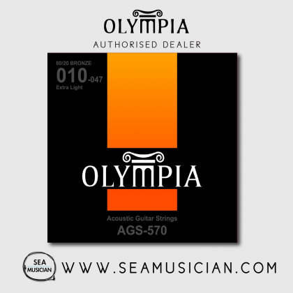 OLYMPIA AGS570 ACOUSTIC GUITAR STRING 10-47 EXTRA LIGHT (OLY-AGS570)