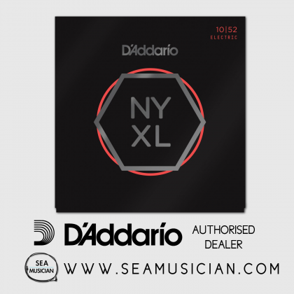 D'ADDARIO NYXL1052 ELECTRIC GUITAR STRING SET 10-52 LIGHT TOP/HEAVY BOTTOM