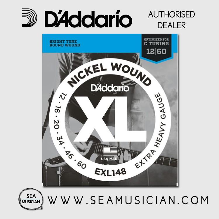 D'ADDARIO EXL148 EXTRA HEAVY ELECTRIC GUITAR STRING 12-60 (DAD-EXL148)