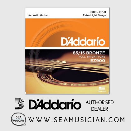 D'ADDARIO EZ900 85/15 BRONZE ACOUSTIC GUITAR STRING 10-50 EXTRA LIGHT