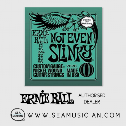 ERNIE BALL 2626 NOT EVEN SLINKY DROP TUNE ELECTRIC GUITAR STRING 12-56