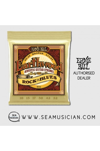 ERNIE BALL 2008 80/20 BRONZE ROCK & BLUES ACOUSTIC GUITAR STRING 10-52