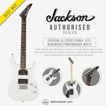 JACKSON JS SERIES DINKY JS12 ROSEWOOD FINGERBOARD WHITE (JS-12)