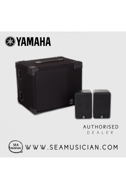 YAMAHA MS50DR ELECTRONIC DRUM MONITOR SYSTEM 50-WATT BASS & 20-WATT 3-WAY SATELLITE SPEAKERS
