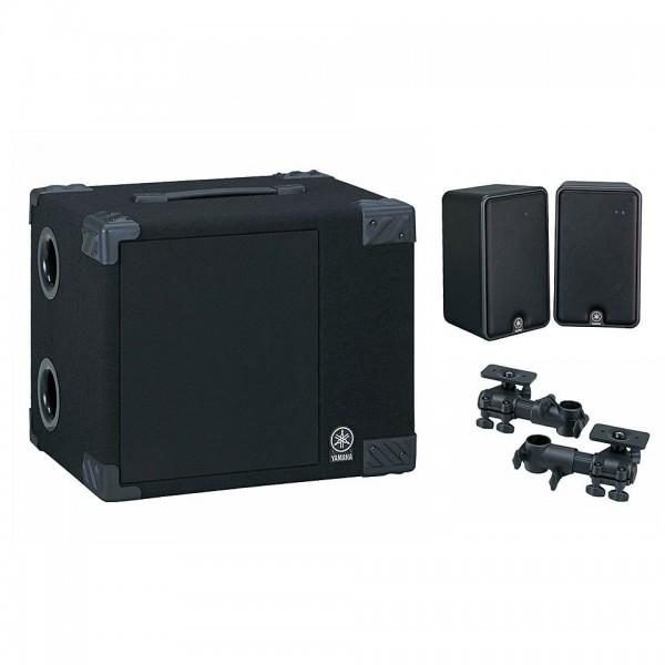 YAMAHA MS50DR ELECTRONIC DRUM MONITOR SYSTEM 50-WATT BASS & 20-WATT 3-WAY SATELLITE SPEAKERS
