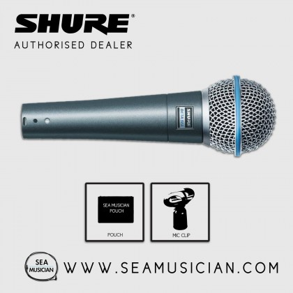 SHURE BETA 58A SUPERCARDIOID DYNAMIC MICROPHONE FOR LIVE VOCALS
