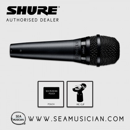 SHURE PGA57-LC CARDIOID DYNAMIC INSTRUMENT MICROPHONE W/ POUCH & MIC CLIP