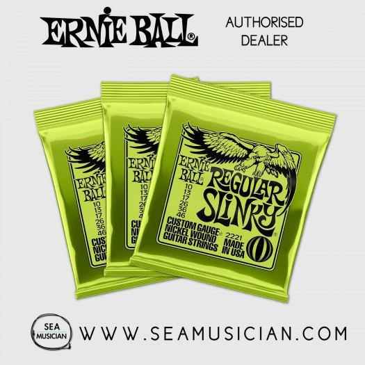 ERNIE BALL EB2221 REGULAR SLINKY ELECTRIC GUITAR STRING 10-46 - 3 SETS