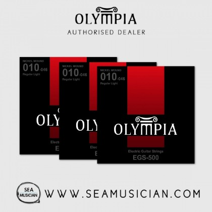 OLYMPIA EGS-500 NICKEL WOUND ELECTRIC GUITAR STRING 10-46 - 3 SETS