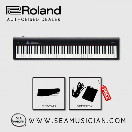 ROLAND FP-30 DIGITAL PIANO WITH FREE DUST COVER & DP2 DAMPER PEDAL - BLACK