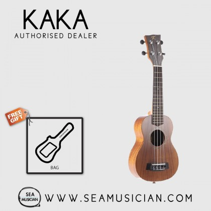 KAKA BY ENYA KUS-70 21'' KOA UKULELE SOPRANO SIZE WITH PADDED SOFT BAG