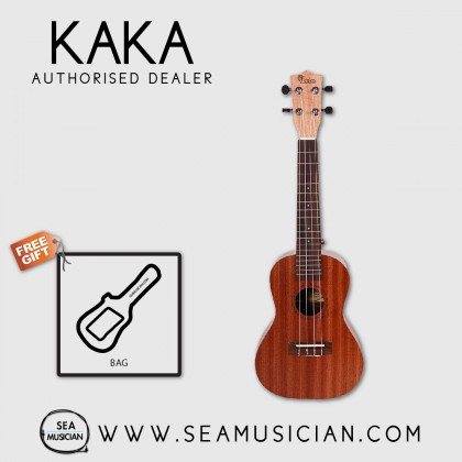 KAKA BY ENYA KUC-20 SAPELE UKULELE CONCERT SIZE WITH LEATHER BAG