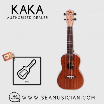 KAKA BY ENYA KUT-20 SAPELE UKULELE TENOR SIZE WITH LEATHER BAG