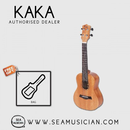 KAKA BY ENYA KUS-25D MAHOGANY SOPRANO UKULELE WITH SOFT PADDED BAG
