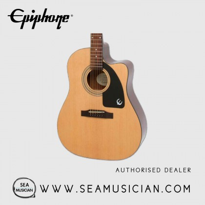 EPIPHONE AJ-100CE SPRUCE TOP JUMBO STYLE ACOUSTIC GUITAR, NATURAL