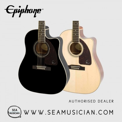 EPIPHONE AJ-220SCE SOLID SPRUCE TOP ACOUSTIC GUITAR WITH PREAMP SYSTEM