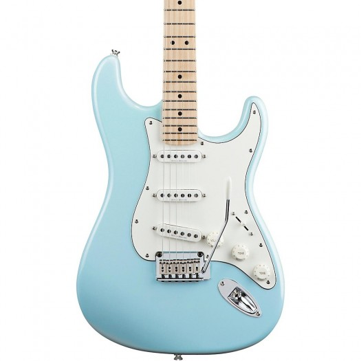 SQUIER BY FENDER DELUXE STRATOCASTER ELECTRIC GUITAR, MAPLE FINGERBOARD